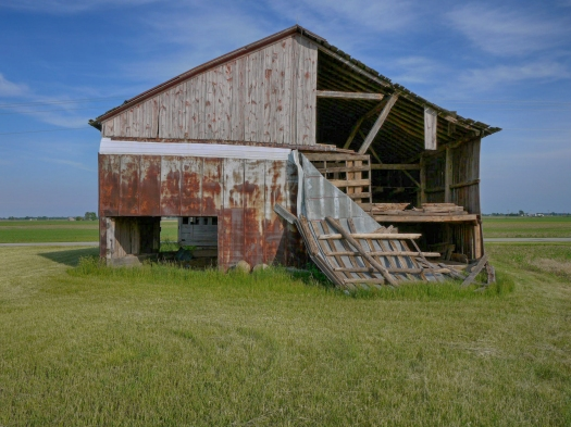 Barb and Pete's barn is on its last legs; one more storm and it will collapse by the look of it