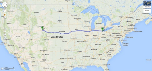 Elmore, OH to Rawlings, WY: 1,350 miles in 24 hours