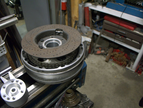 Modified drum-to-disk brakes