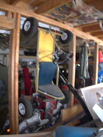 Doug's son built this go-kart