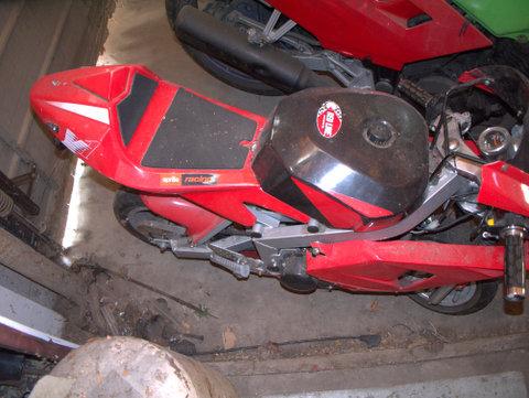 A mini Aprillia racing bike