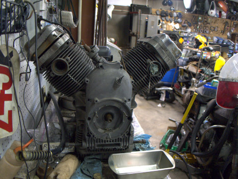 A modified racing engine