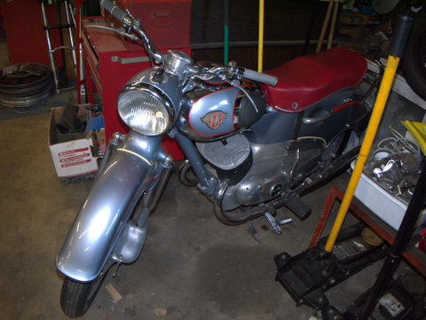 Restored to show standard Maico seen from the other side