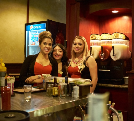 Some of the croupiers/waitresses